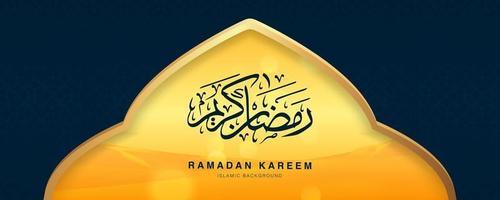 ramadan kareem vector achtergrond sjabloon. eid mubarak, islamitische banner