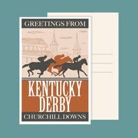 kentucky derby ansichtkaart vector