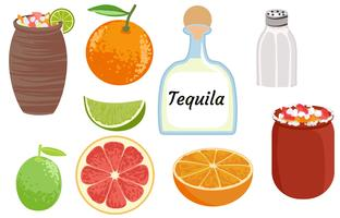Cantarito Cocktail vector