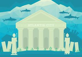 Stad van de illustratie van Atlantis vector
