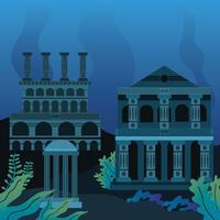 The Lost City Atlantis Clipart vector