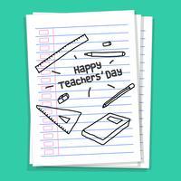 Gelukkige dag van de leerkracht vector
