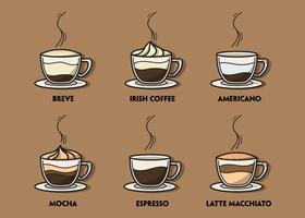 Koffie illustratie Set vector