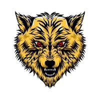 wolf hoofd mascotte vector