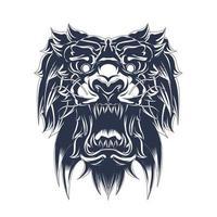 tijger inkt illustratie kunstwerk vector