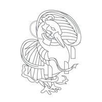 vector hand getekende illustratie van gans