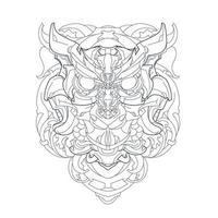 vector hand getekende illustratie van mechanische uil