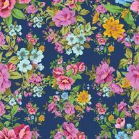 naadloze bloemmotief schattige vintage bloesem vector