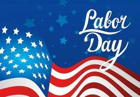 gelukkige dag van de arbeid vakantie viering banner met usa vlag