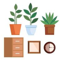 binnenshuis home decor icon set