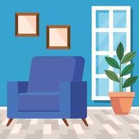 gezellige woonkamer interieur achtergrond vector