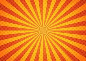 mooie zonnestraalachtergrond met heldere gele en oranje kleur. vector