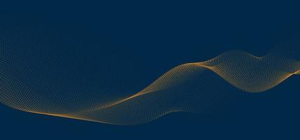 abstracte achtergrond 3d golflijnen en stromende deeltjes. vloeiende krommevorm, stippen gemengd gaas, technologie futuristisch concept.