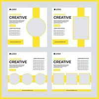 vector sociale media post sjabloonontwerp voor het bedrijfsleven. met gele kleur en witte achtergrond. geschikt voor zakelijke posts op sociale media en internetreclame op websites