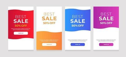 beste verkoop 50 korting op modern, vloeiend stijlontwerp vector