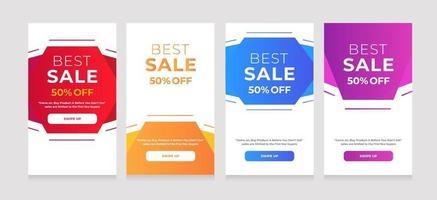 achtergrondontwerp beste verkoop 50 korting vector