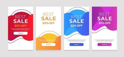 vloeibare stijl achtergrond beste verkoop 50 korting vector