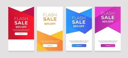 flash-verkoop 50 korting op moderne dynamische stijl vector