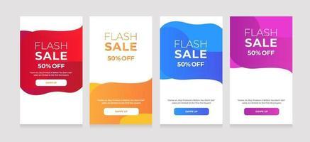 abstracte ontwerpstijl flash-verkoop 50 korting vector