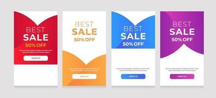 modern design beste verkoop 50 korting vector