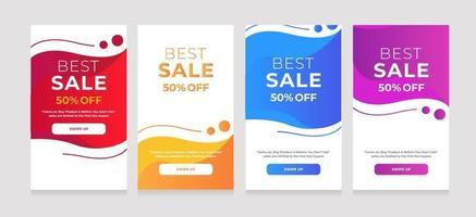 ontwerp achtergrond beste verkoop 50 korting vector
