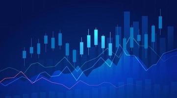 zakelijke kaars stok grafiek grafiek van de aandelenmarkt investeringen handel vector