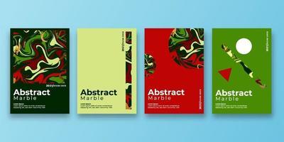 set van abstracte achtergrond met marmeren textuur. verf spatten. kleurrijke vloeistof. het kan worden gebruikt voor poster, kaart, brochure, uitnodiging, omslagboek, catalogus. vector illustratie