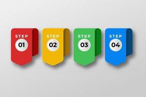 presentatie zakelijke infographic element sjabloon. vector illustratie. kan worden gebruikt voor proces, presentaties, lay-out, banner, infografiek.