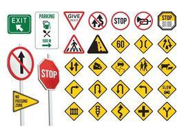 verkeersborden op illustratie grafische vector
