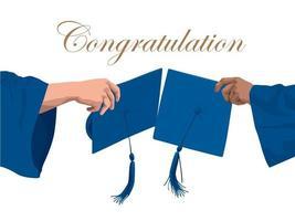 felicitatie afstuderen illustratie grafische vector