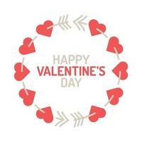 Valentijnsdag krans vector