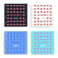 Valentijnsdag kaartenset vector