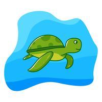 Schildpad onder de zee vector