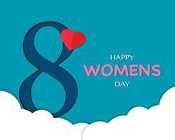 gelukkige vrouwendag eenvoudige achtergrond