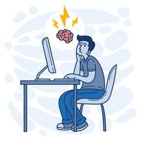 Brainstormen vectorillustratie vector
