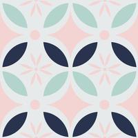 modern batik kawung naadloos patroon in pastelkleur. Javaans batikpatroon.