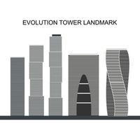 evolutie toren. moskou internationaal zakencentrum. zijn futuristische dna-achtige vorm. Moskou, Rusland vector