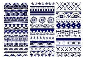 naadloze vector tribal. vintage etnische patroon achtergrond. tribale kunst in traditioneel klassiek naadloos patroon in blauwe en witte kleur. goed voor behang, stoffen ontwerp, stof, papier, textiel
