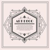 art deco vector label