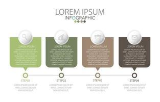 infographic sjabloon in vier stappen, sjabloon voor diagram, grafiek, presentatie en grafiek.