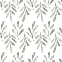 aquarel schattig blad gebladerte naadloze patroon vector