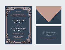 Art Deco huwelijkskaart vector