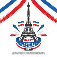 Bastille Dag Illustratie Vector