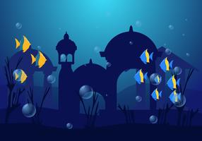 Awesome City of Atlantis Vectors