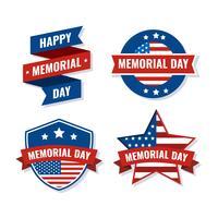 Memorial Day-badge vector