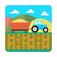 Platte boerderij illustratie vector