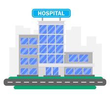 Ziekenhuisgebouw vector