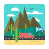 woestijnweg vector