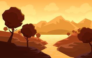 Vector abstracte landschap illustratie