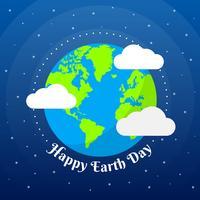 Werelddag van de aarde illustratie vector sjablonen